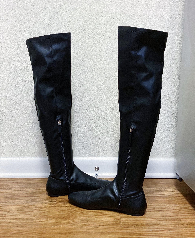 ZARA Flat Thigh High Boots | Curtsy