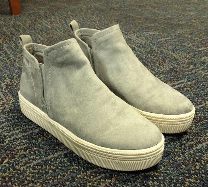 Dolce Vita Grey Suede Platform Sneakers