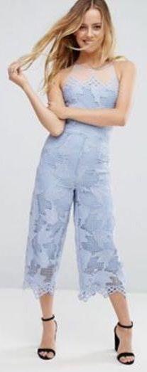 ASOS Blue Lace Jumpsuit